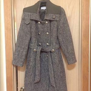 Like New Brown Tan CALVIN KLEIN Wool Coat Size 16